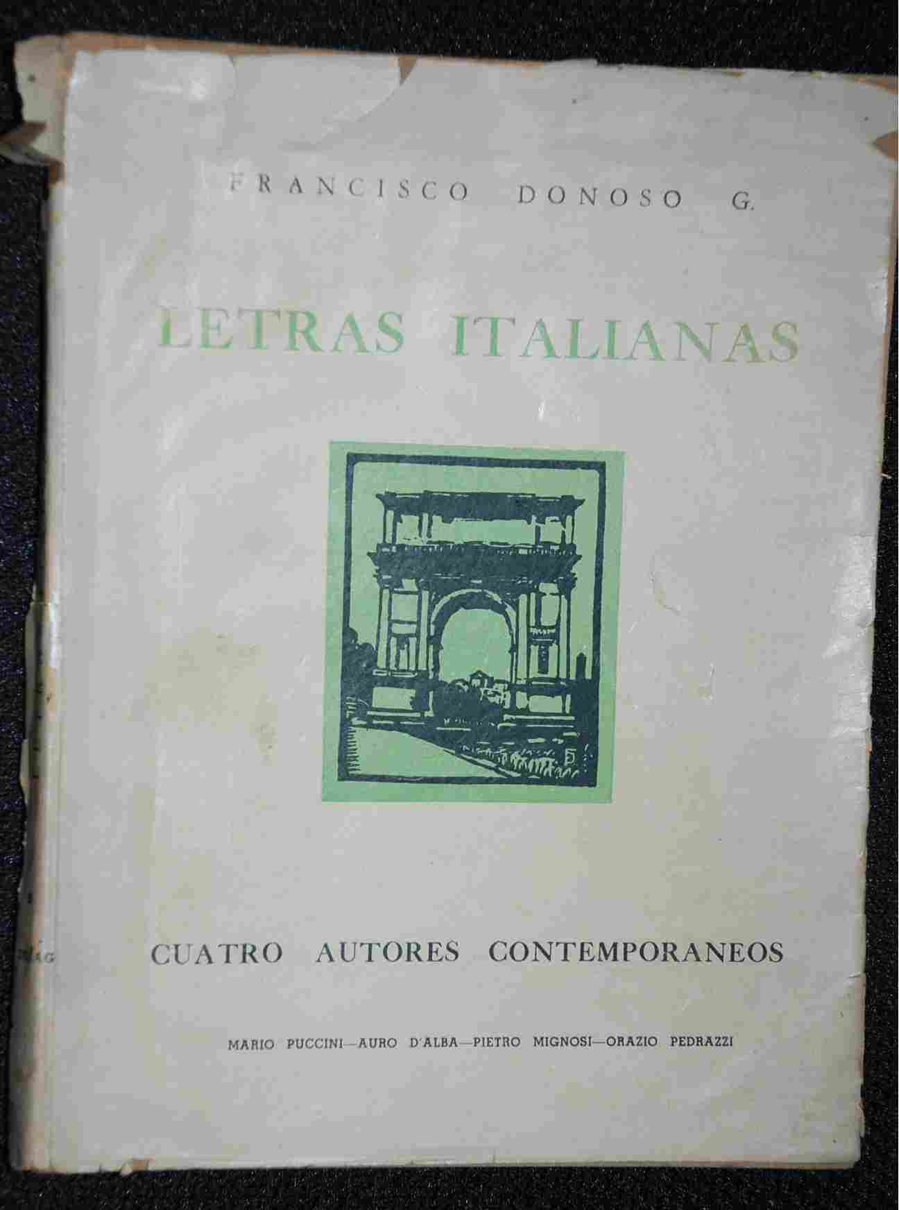 Francisco Donoso - Letras Italianas
