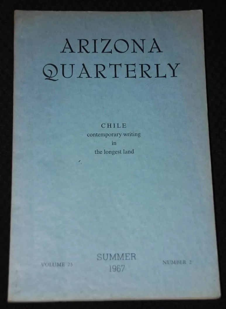 The University of Arizona. Arizona quarterly chile Contemporary writing in logest land