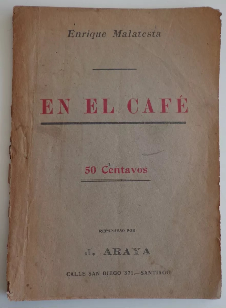 enrique malatesta. en el café
