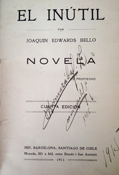 Joaquín Edwards Bello - El inútil : novela