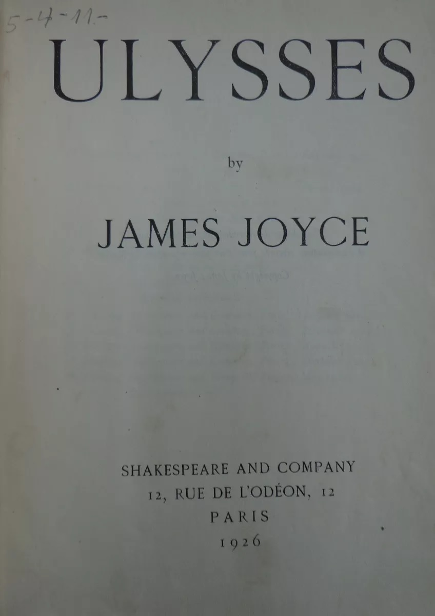 James Joyce. Ulysses